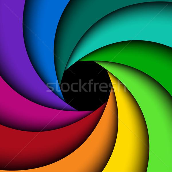 Colorful shutter aperture, vector background Stock photo © kurkalukas