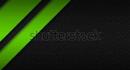 Negro verde moderna material diseno patrón Foto stock © kurkalukas