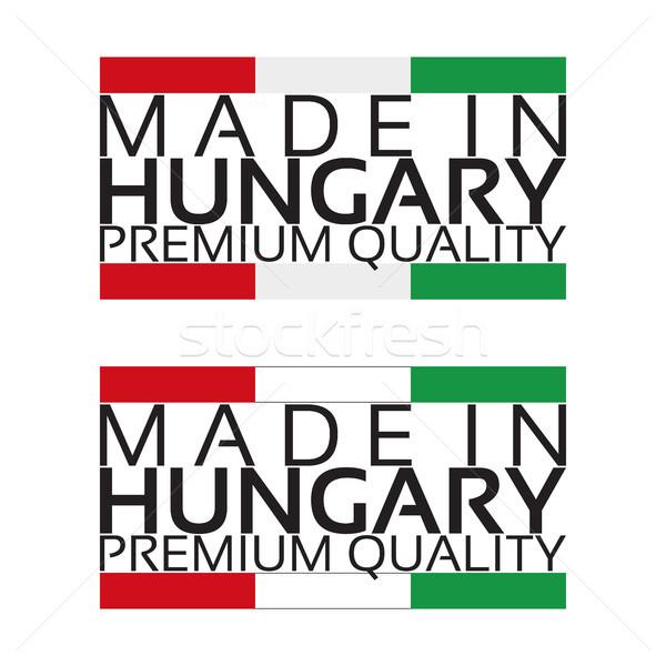 Ungheria icona premio qualità adesivo ungherese Foto d'archivio © kurkalukas