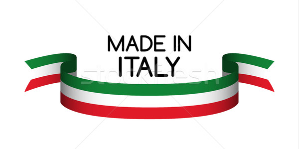 Made in Italy symbol, colored ribbon with the Italian tricolor Stock photo © kurkalukas