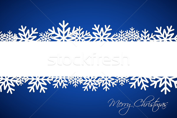Blanche Noël flocon de neige bleu espace Photo stock © kurkalukas