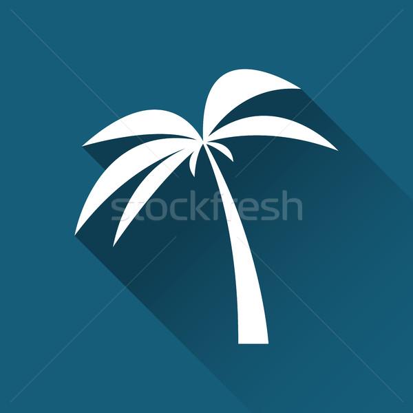 Simple palmier icône Voyage vacances symbole Photo stock © kurkalukas