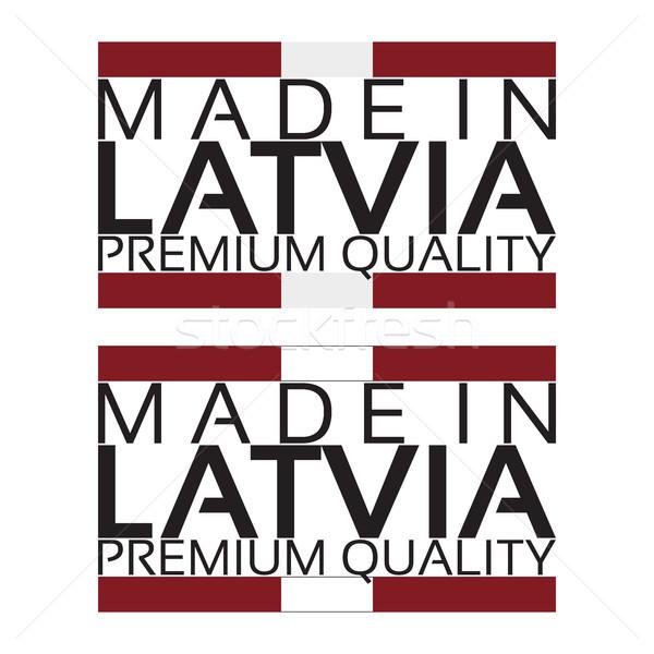 Lettország ikon prémium minőség matrica színek Stock fotó © kurkalukas