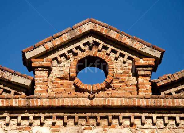 Azeite fábrica arquitetura pormenor edifício arte Foto stock © Kuzeytac
