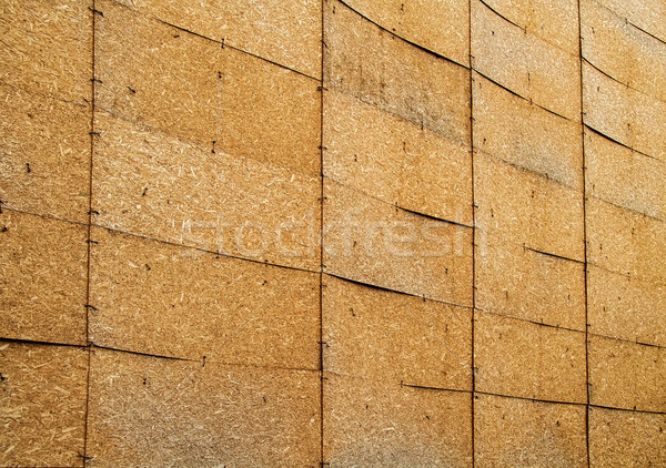Stock photo: A Wall Of Oriented Strand Boards