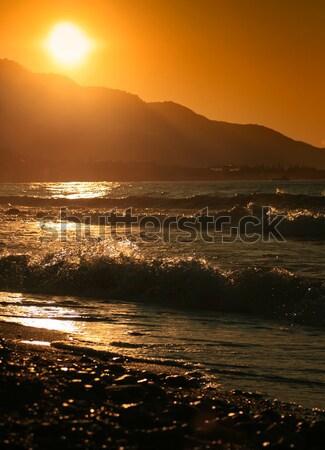 Hot zomer ochtend zonsopgang hemel zonsondergang Stockfoto © Kuzeytac