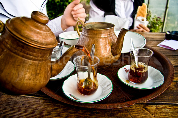 Drinken traditioneel turks thee vrienden Stockfoto © Kuzeytac