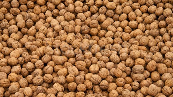 Whole Walnut Background Stock photo © Kuzeytac