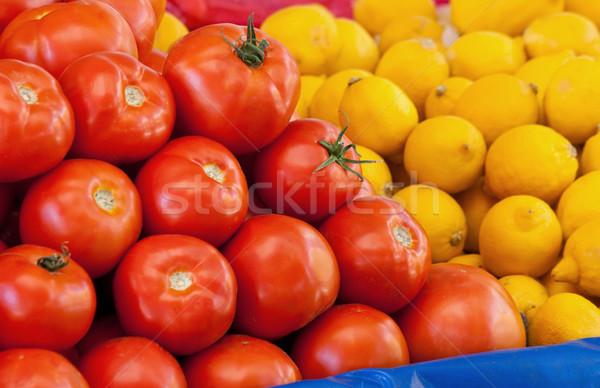 Fresh Organic Tomato and Lemons Stock photo © Kuzeytac