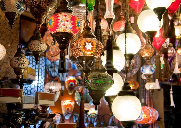 Colorido tradicional turco diferente luzes exibir Foto stock © Kuzeytac