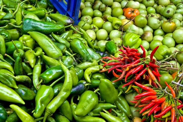 Organisch vers rijp paprika tomaten straat Stockfoto © Kuzeytac