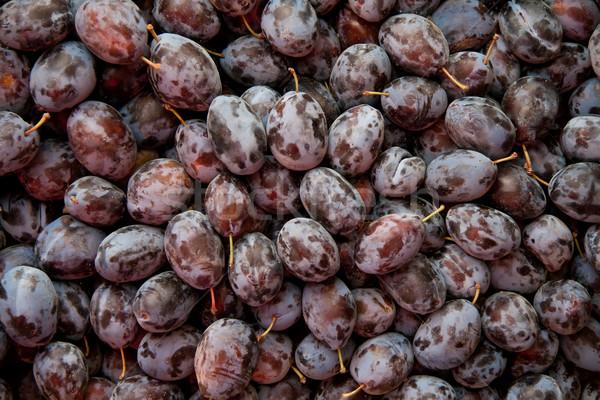 Hoop vers organisch paars pruimen straat Stockfoto © Kuzeytac
