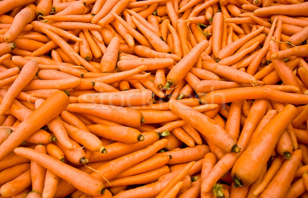 Stock photo: Heap Of Ripe Carrots At A Street Market In Istanbul, Turkey.