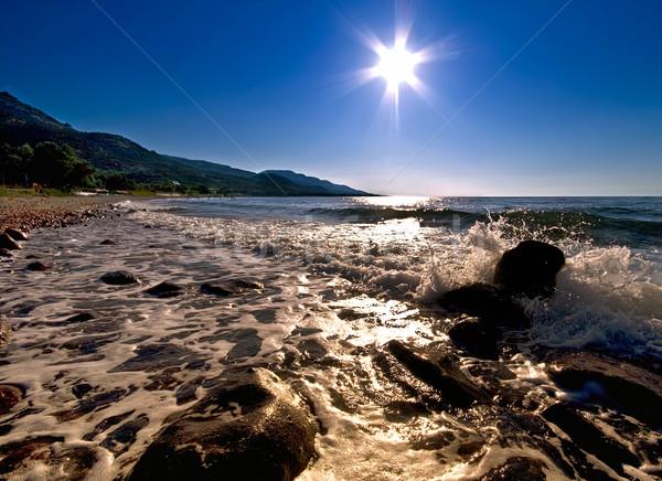 Sun Star Over The Sea Stock photo © Kuzeytac