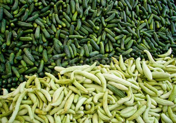 свежие органический огурца улице рынке Стамбуле Сток-фото © Kuzeytac