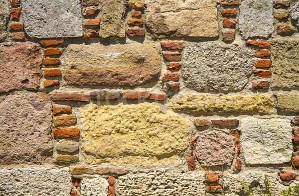 Traditioneel steen muur textuur kasteel gebouw Stockfoto © Kuzeytac