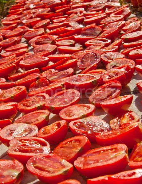 Fresh Organic Tomatoes Under Hot Sun To Dry Stock photo © Kuzeytac
