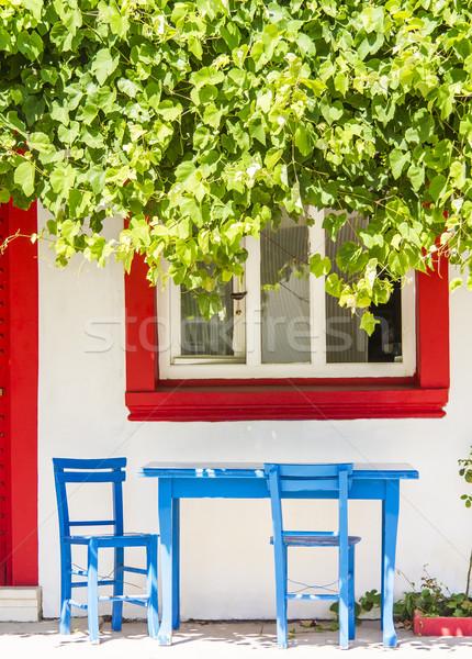 Vergadering plaats historisch plaats Blauw tabel Stockfoto © Kuzeytac