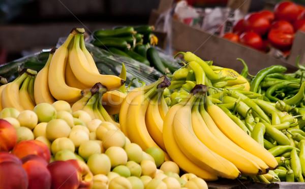 свежие органический банан персика нектарин Сток-фото © Kuzeytac