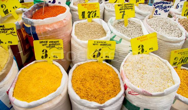 Screpolato mais fagioli altro asciugare Foto d'archivio © Kuzeytac