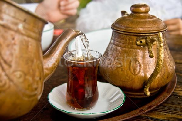 Potável tradicional turco chá cobre Foto stock © Kuzeytac