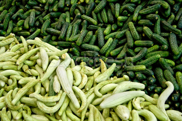 Stock photo: Fresh Organic Cucumber/ Gherkins At A Street Market In Istanbul,