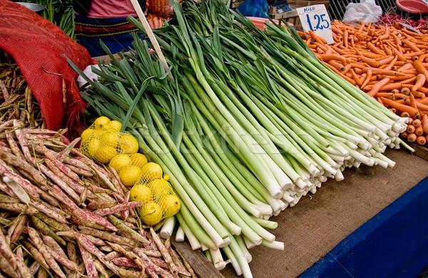 Organikus friss zöldségek utca piac Isztambul Törökország Stock fotó © Kuzeytac