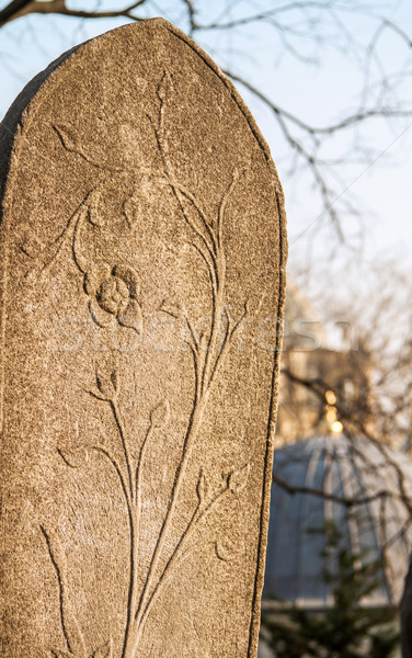 A Ottoman Gravestone At Eyup, Istanbul Stock photo © Kuzeytac