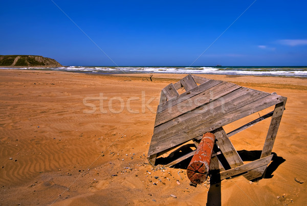 Homokos piros tengerpart hdr homok apparátus Stock fotó © Kuzeytac