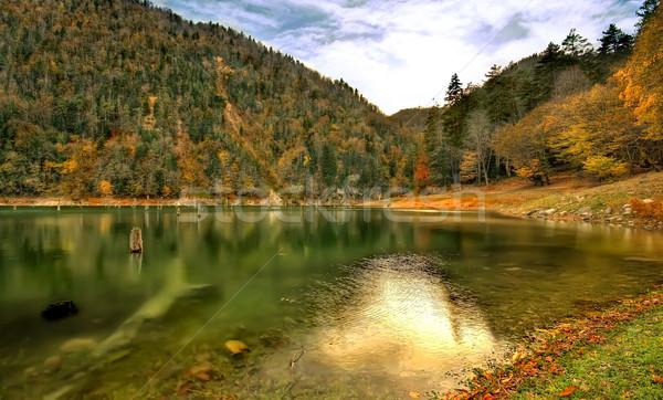 скрытый рай озеро деревне дисков далеко Сток-фото © Kuzeytac