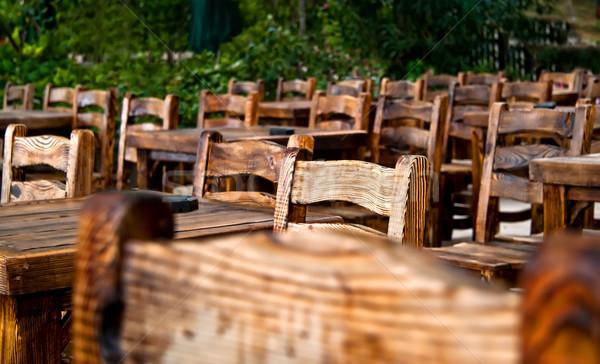Foto stock: Vazio · cadeiras · casamento · reunião · natureza