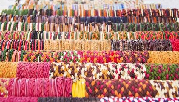 Kleurrijk straat markt vrouw textuur Stockfoto © Kuzeytac