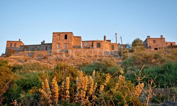 Historical Stone Houses At Behramkale  / ASSOS – Turkey Stock photo © Kuzeytac