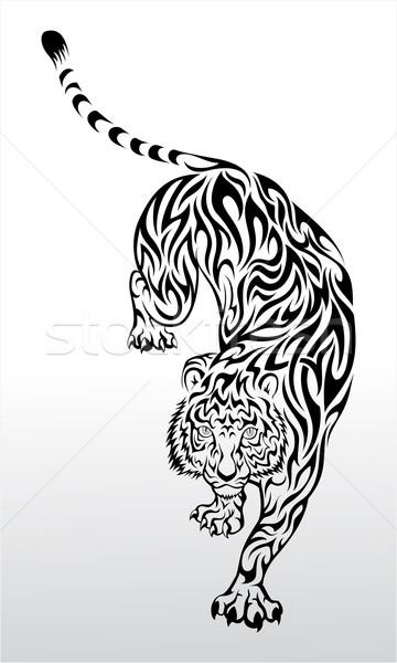 Tribal Tiger Stock photo © kuzzie