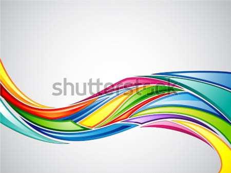 Wibrujący ilustracja kolorowy streszczenie internetowych niebieski Zdjęcia stock © kuzzie