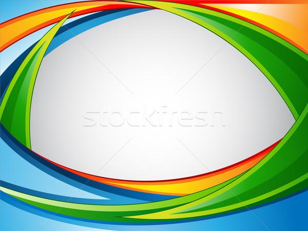 Vibrante illustrazione colorato abstract web blu Foto d'archivio © kuzzie