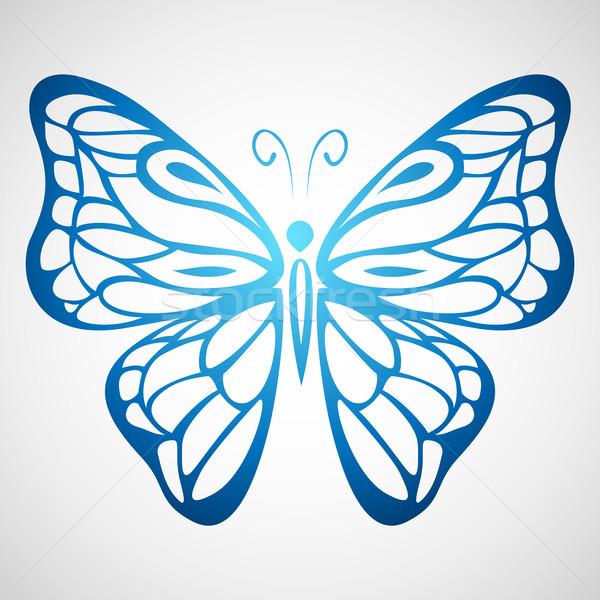 Colorato farfalla illustrazione ornamento fiore bellezza Foto d'archivio © kuzzie