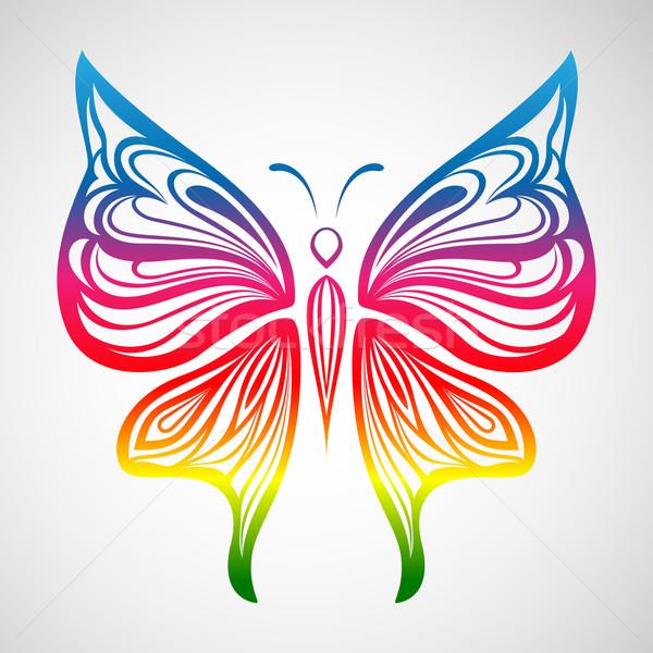 カラフル 蝶 実例 飾り 花 美 ストックフォト © kuzzie