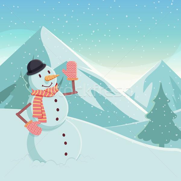 Snowman Stock photo © kuzzie