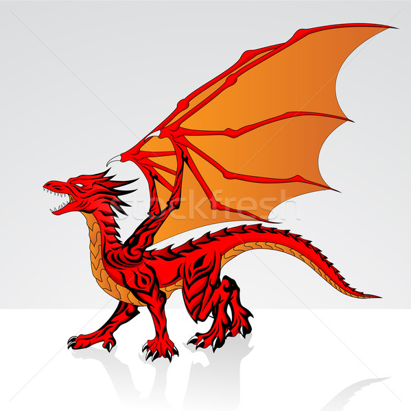 Red Dragon Stock photo © kuzzie