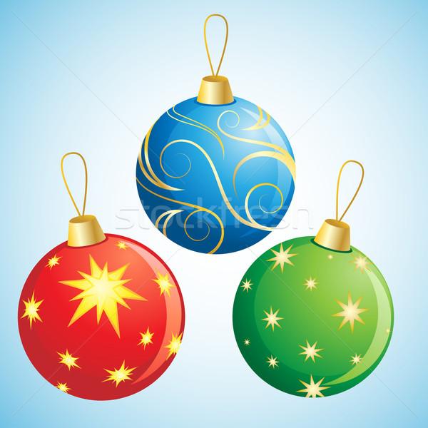 Natale decorazione decorazioni neve palla Foto d'archivio © kuzzie