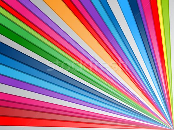 Colorato linee illustrazione abstract web blu Foto d'archivio © kuzzie