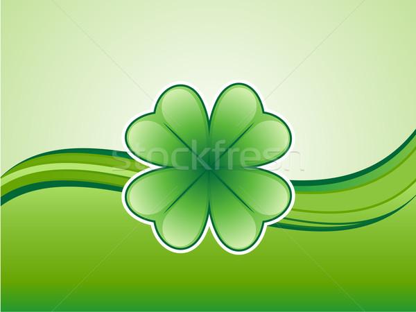 Shamrock verde abstract design sfondo arte Foto d'archivio © kuzzie