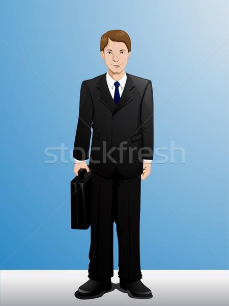 Biznesmen cartoon ilustracja działalności człowiek pracy Zdjęcia stock © kuzzie