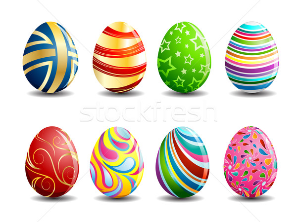 Easter Egg ilustrare set colorat primăvară abstract Imagine de stoc © kuzzie