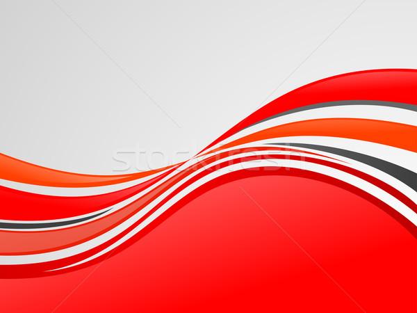 Red Wave Background Stock photo © kuzzie