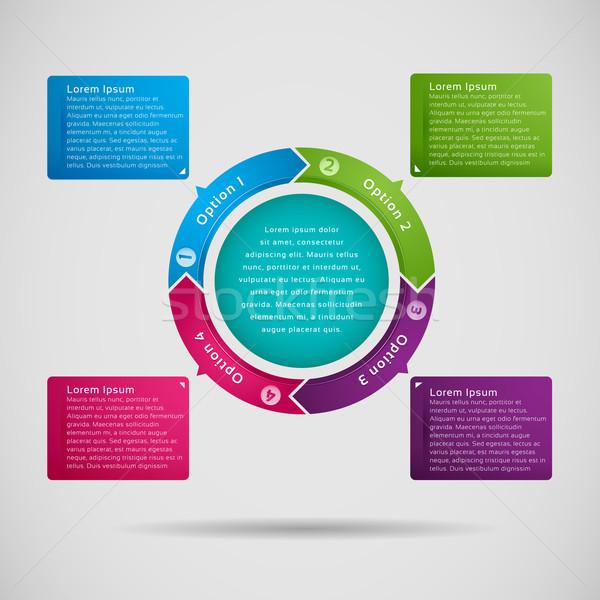 Opzione etichetta infografica grafico business internet Foto d'archivio © kuzzie