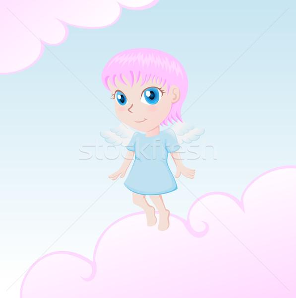 Piccolo angelo cute cartoon illustrazione corpo Foto d'archivio © kuzzie