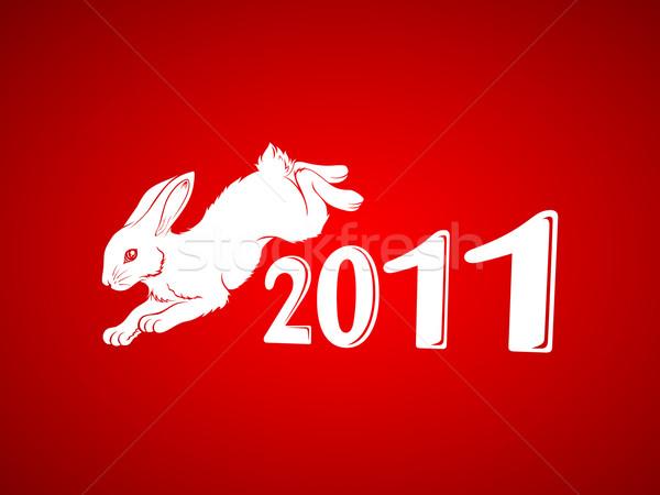 New Year of the rabbit 2 Stock photo © kuzzie