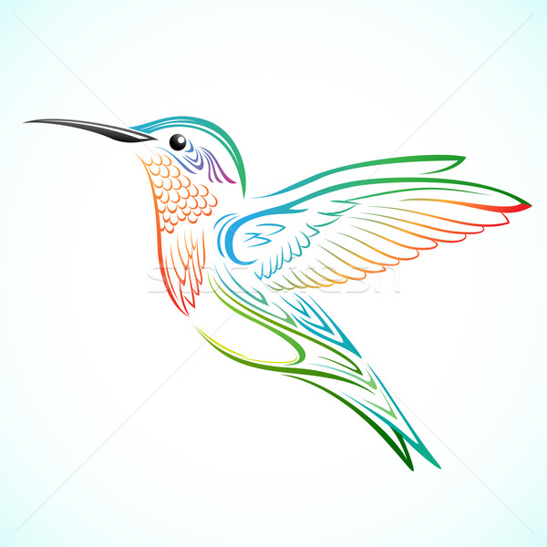Colorful Hummingbird Stock photo © kuzzie